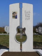 Doppelstele Gitarrensilhouette Edelstahl